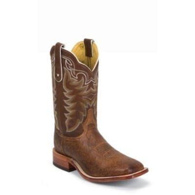 b50ef747066 Ariat Western Boots Mens Tobstone Exotic Brandy Smooth-Quill Ostrich ...