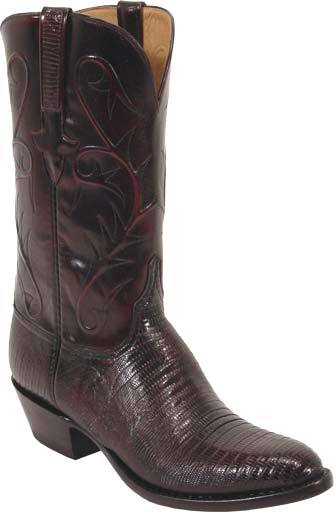 Lucchese Men S Western Black Cherry Lizard Boots N Britches