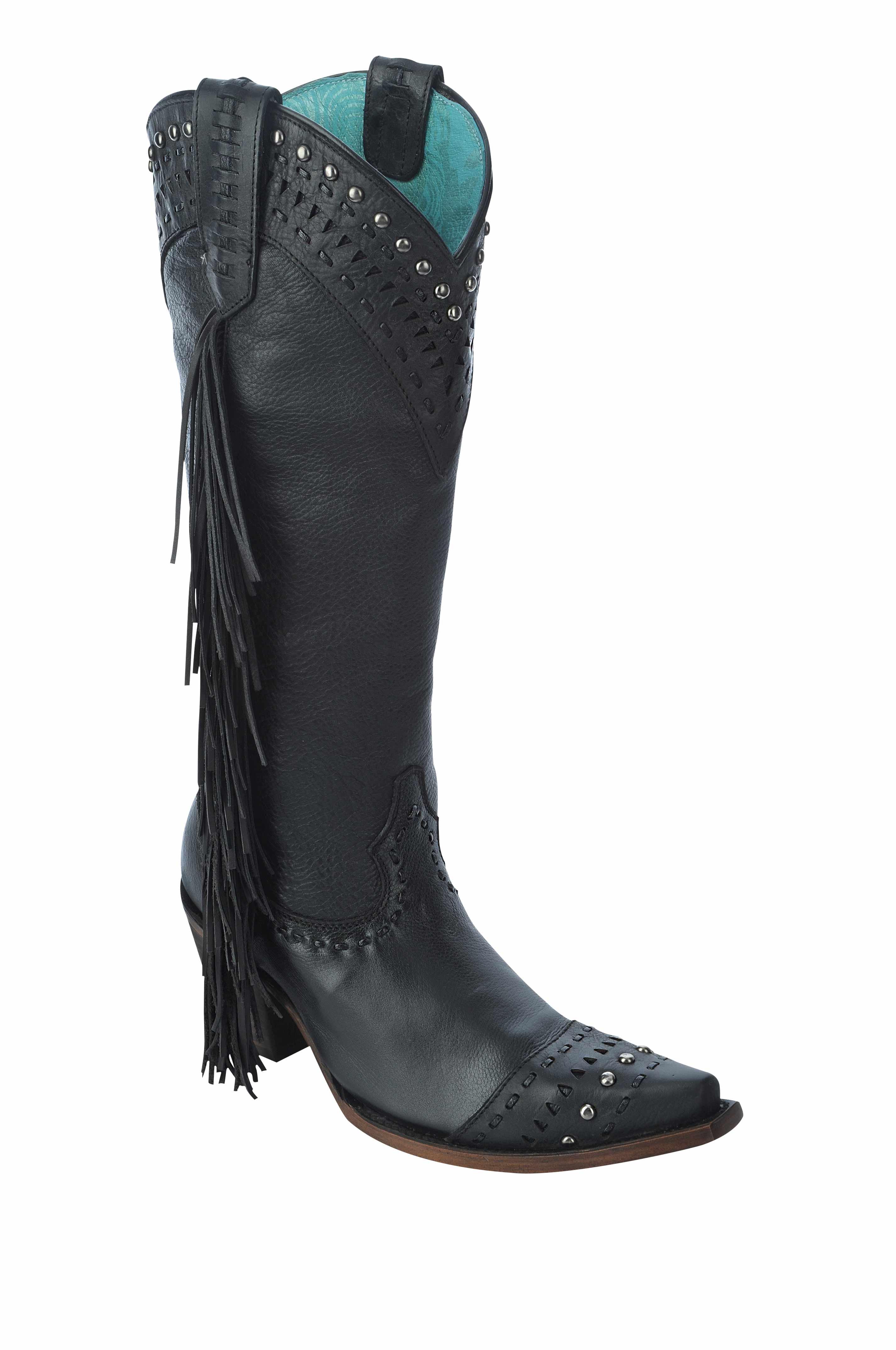 Black Cowgirl Fashion Boots