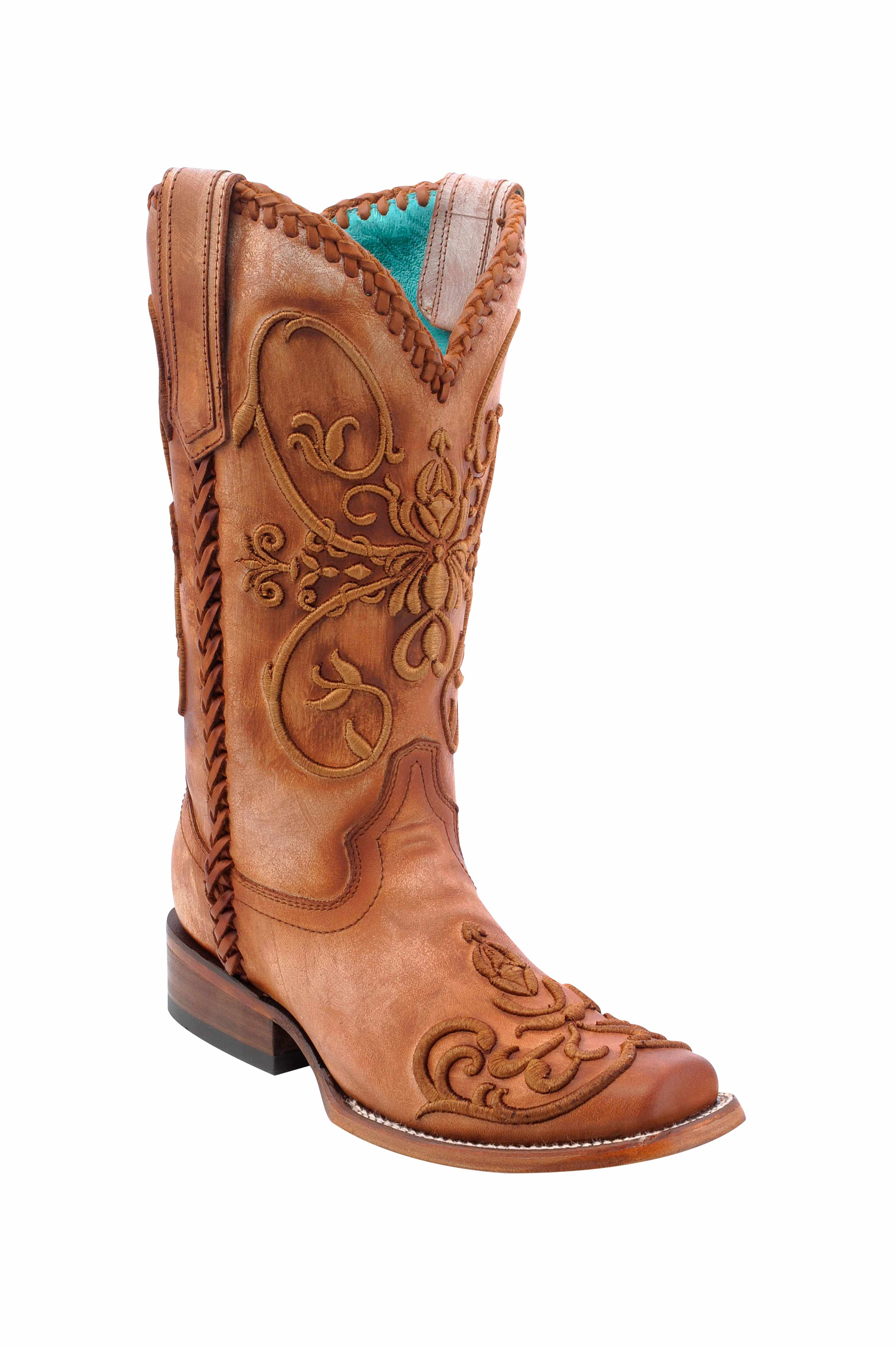 Ladies Corral Tan Whip Stitch Boots N Britches