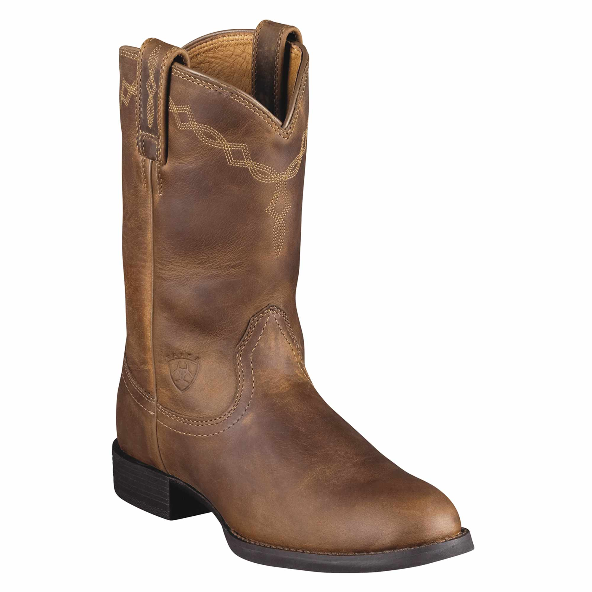 Ariat Western Boots Women's Heritage Roper Distressed Brown.