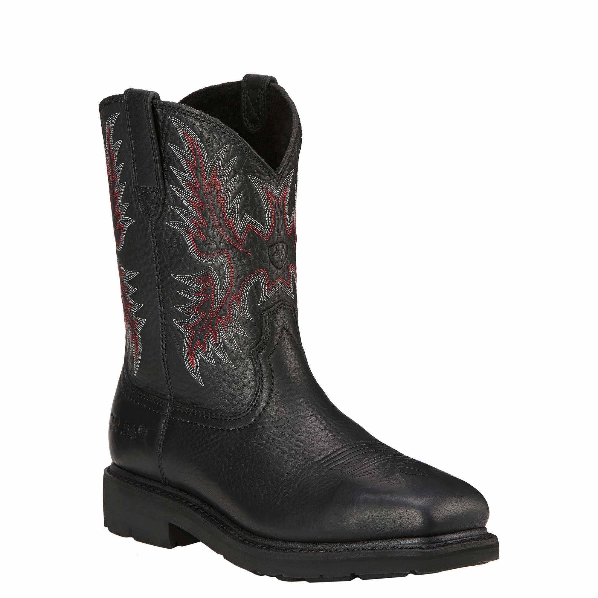 de7461f5a0a Ariat Men's Work Boots Sierra Wide Square Toe. Black. Steel Toe