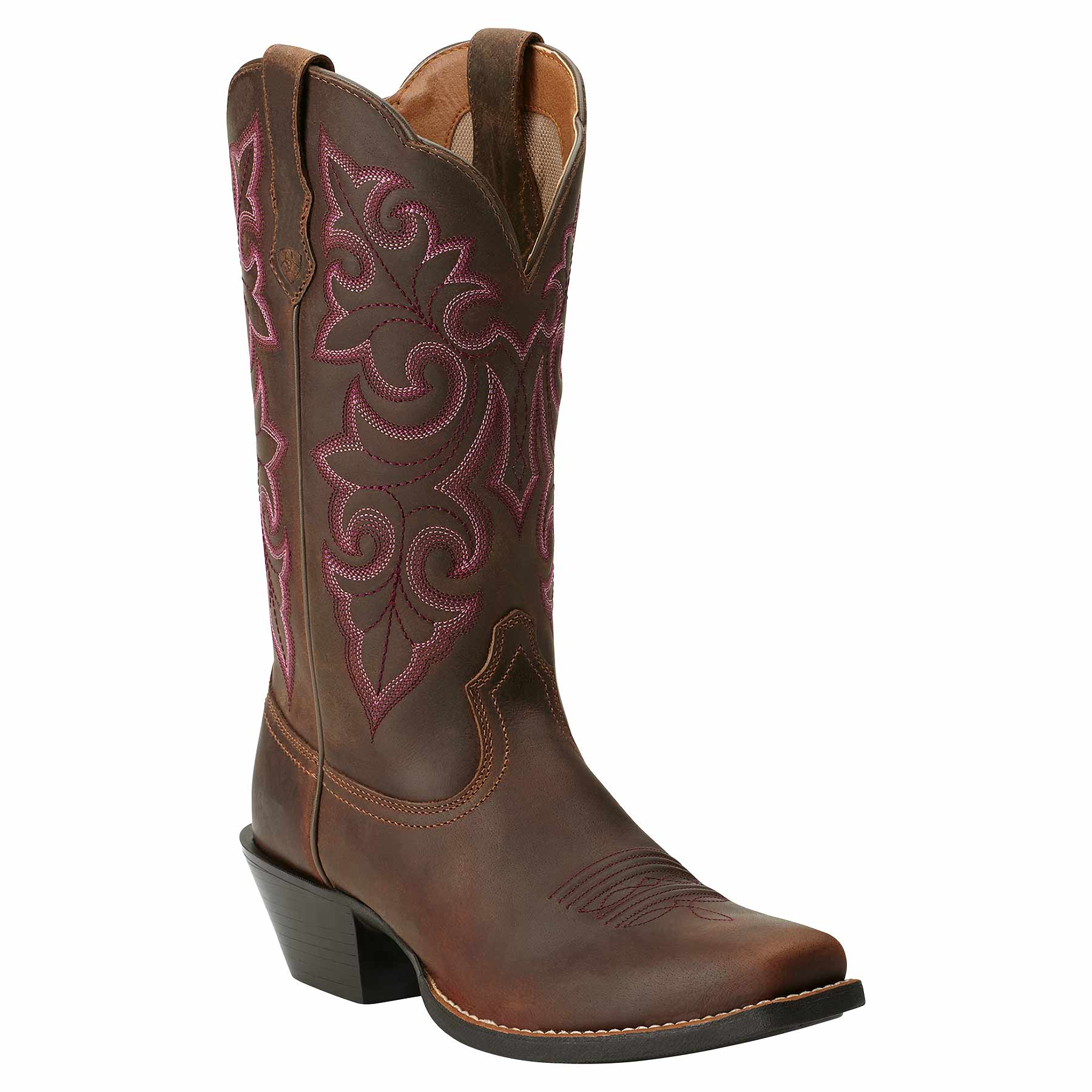 Ariat Western Boots Women S Round Up Square Toe Powder