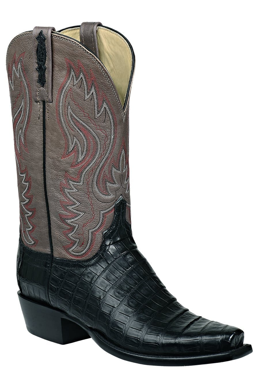 Lucchese Men S Heritage Black Bias Caiman Belly Boots N