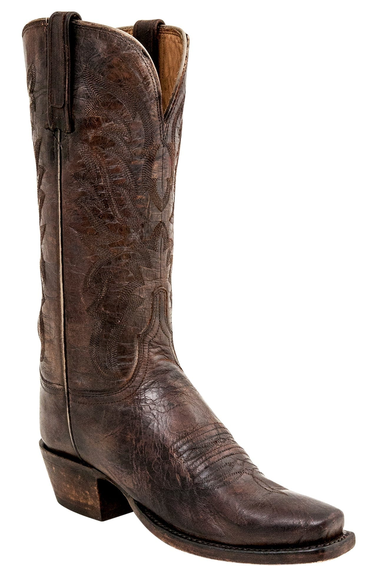 Lucchese Ladies Heritage Stone Wash Pearl Bone Boots N