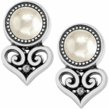 Alcazar Heart Pearl Post Earrings